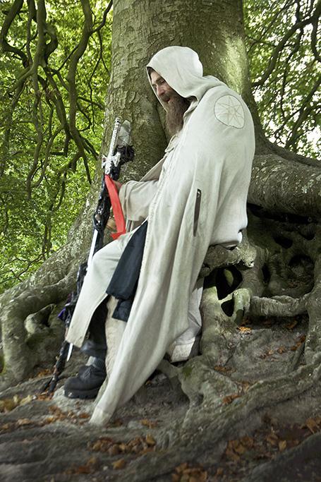 Merlin of England, of the Loyal Arthurian Warband, Atumn Equinox, Avebury, Wiltshire