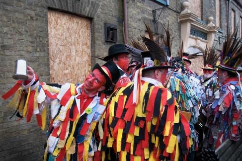 The Red Leicester Morrismen, Whittelsea Straw Bear Festival, Cambridgeshire