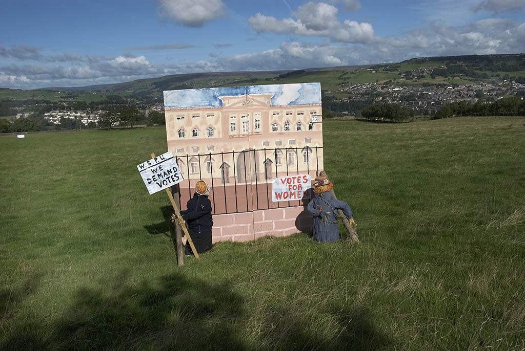 Suffragette scarecrows, Norland Scarecrow Festival, Yorkshire