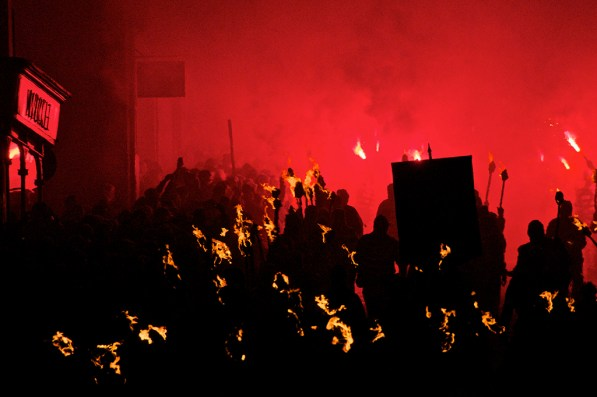 Bonfire Night Grand United Parade, Lewes, Sussex