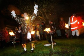 Wassailing ceremony, Sompting Village Morris, Tarring, Sussex