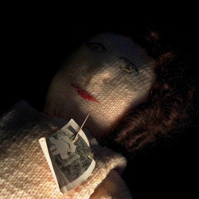 Knitted Poppet with Photograph, Museum of Witchcraft and Magic