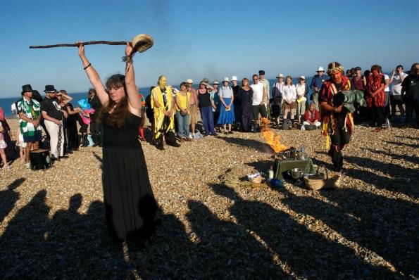 Lammas ritual, Eastbourne, Sussex, 2010