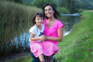 Photo of Sarah Badat Richardson with daughter