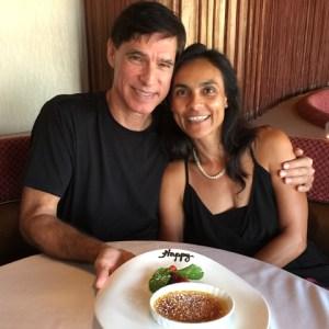 Photo of Sarah Badat Richardson with husband Burton Richardson
