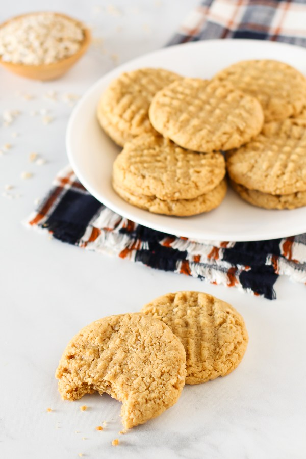 Gluten Free Vegan Peanut Butter Oatmeal Cookies. You're going to swoon over these chewy, perfect peanut butter cookie!