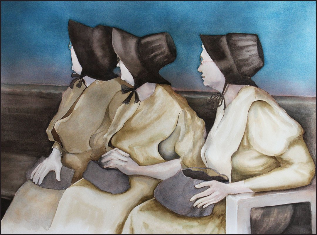 THREE AMISH WOMEN