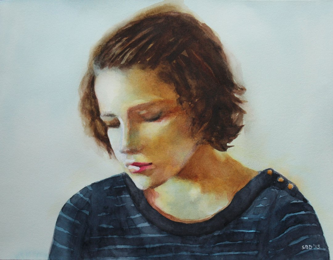 YOUNG WOMAN IN A REFLECTIVE MOOD