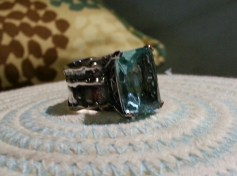 Sterling Silver Ring with Blue Stone