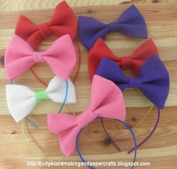 Judy's Card Making and Paper Crafts - Felt Headbands