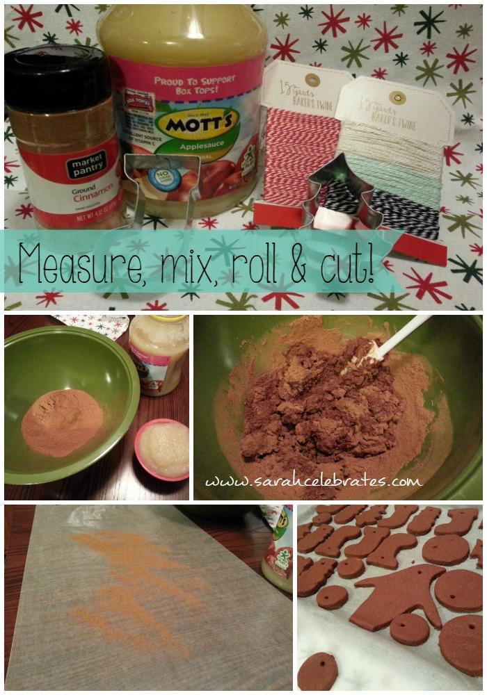 Cinnamon Ornaments - Measure mix roll and cut