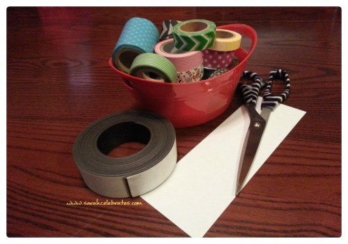 Washi Tape Bookmarks - Supplies