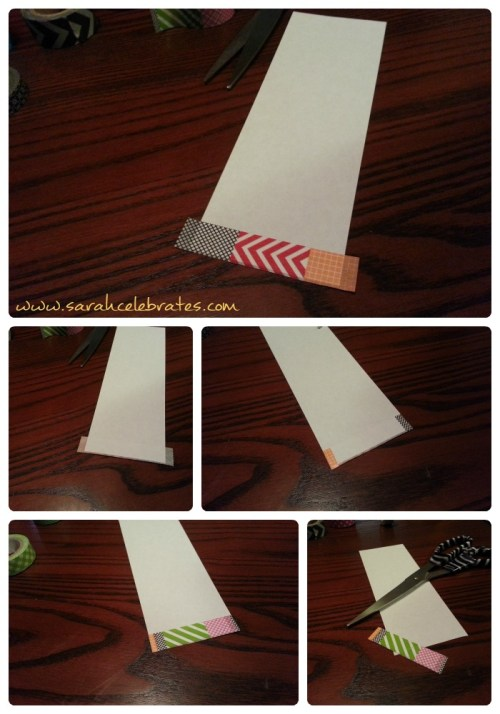 Washi Tape Bookmarks - Tape and Cut