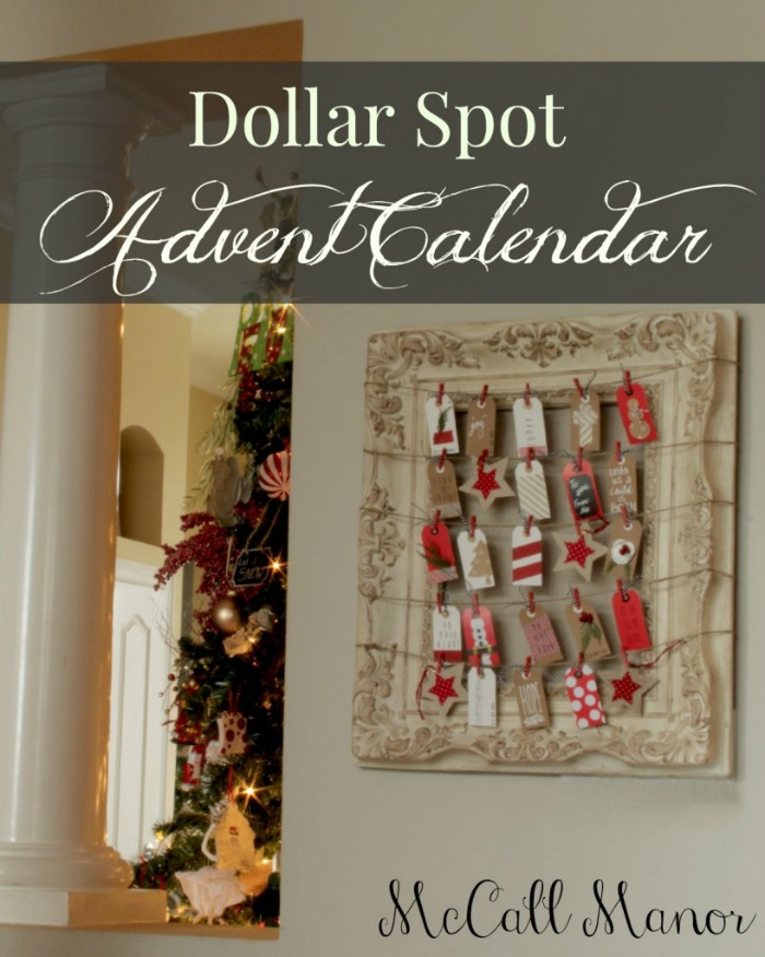 Dollar Spot Advent Calendar - McCAll Manor - Sarah Celebrates #2usestuesday FEATURE