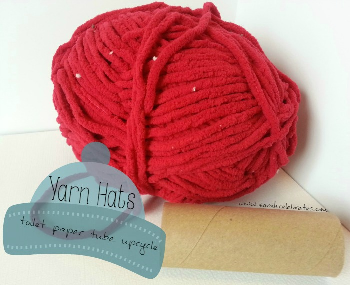 Yarn Hat - Toilet Paper Tube Upcycle