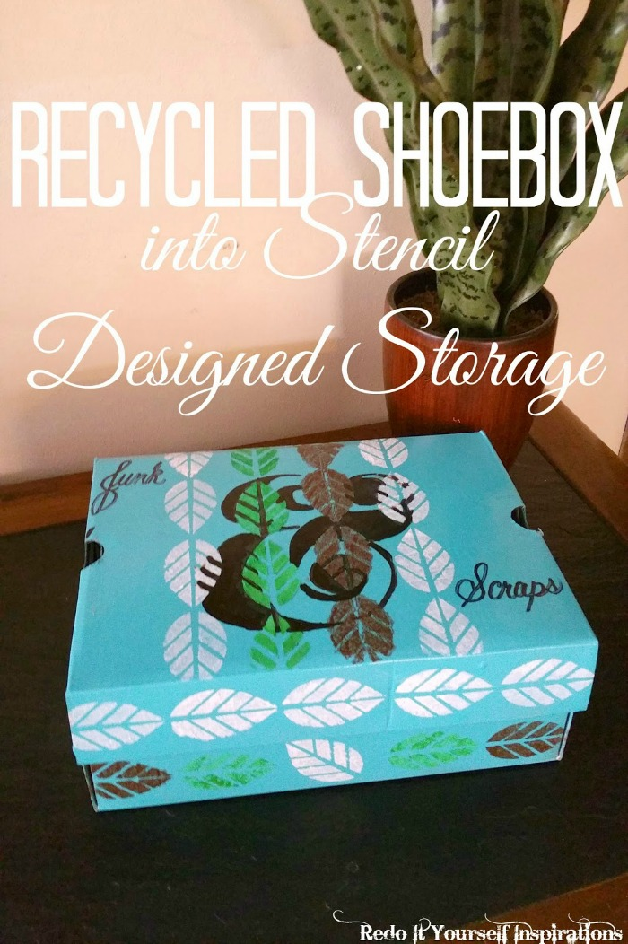 stencil designed storage by redoitrobin | Sarah Celebrates #2usestuesday feature