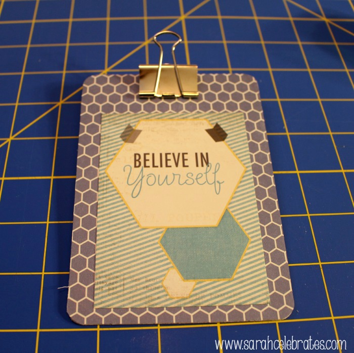 Mini Clipboards by Sarah Celebrates - tada
