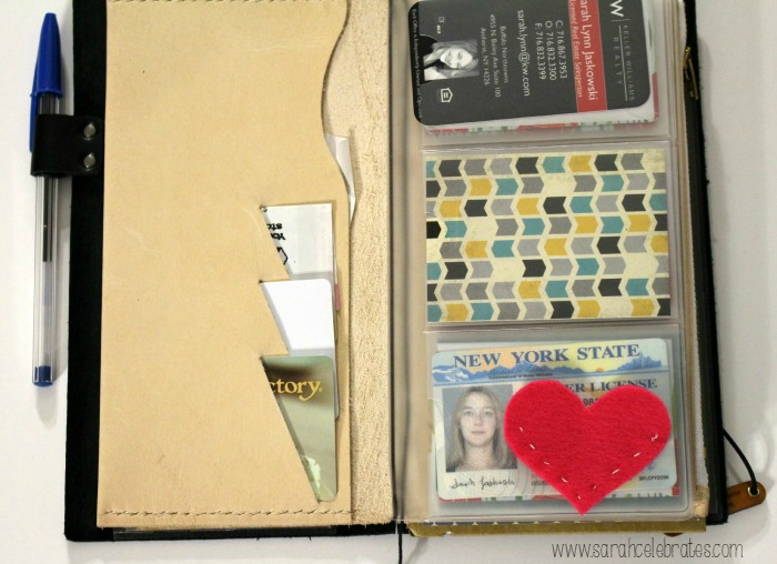 Way Cool Wallet - Original Midori Travelers Notebook As A Wallet, cash and cards | Sarah Celebrates