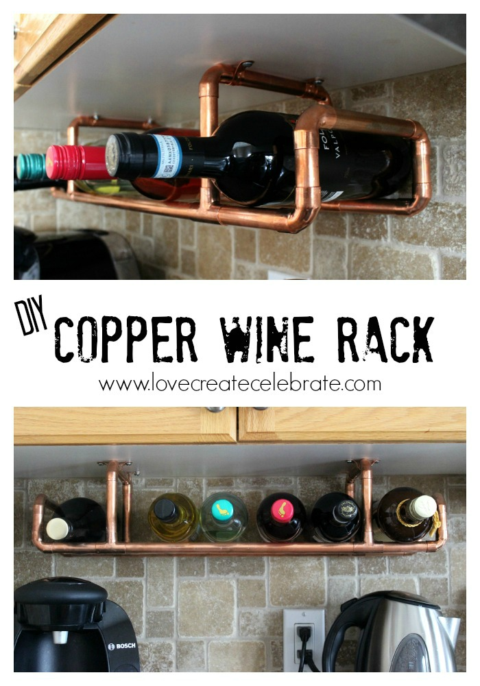 2usestuesday feature - diy copper wine rack