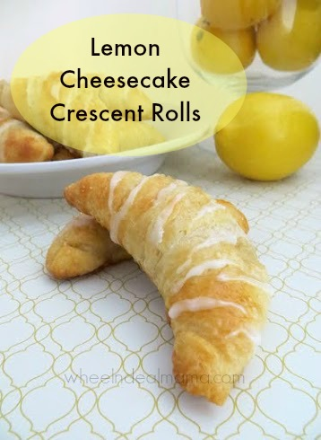 Lemon-Cheesecake-Crescent-Rolls, Wheel n Deal Mama - 2usestuesday feature | Sarah Celebrates