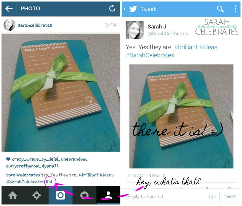 Tale of Two Images - IFTTT Recipe Instagram to Native Twitter Pic   Sarah Celebrates