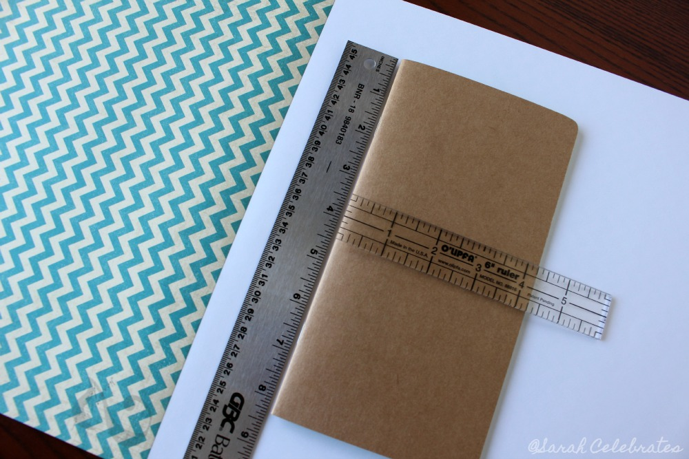DIY Dashboard for your travelers notebook -Measure notebook to be covered