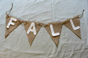 Simply Chic Fall Wreath - Make The Banner - Sarah Celebrates