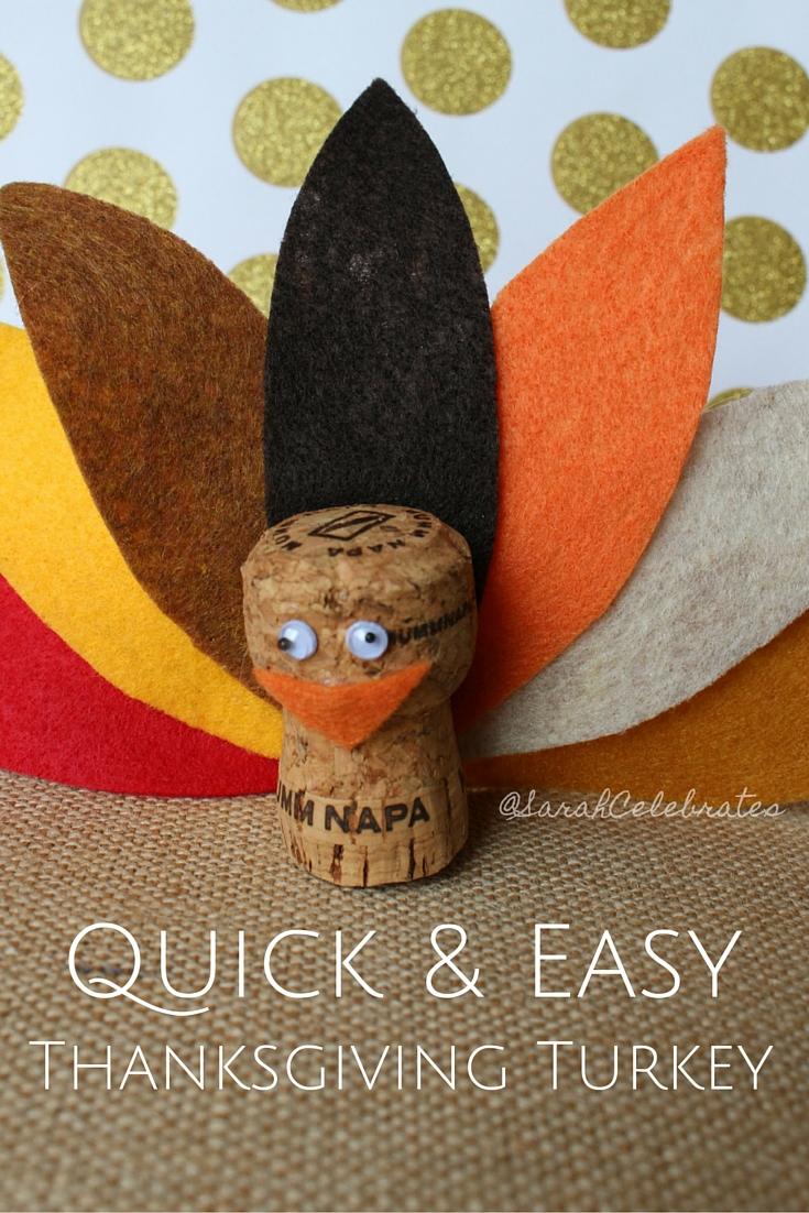 Thanksgiving Turkey - Quick & Easy - Thanksgiving Turkey #30minutecrafts | Sarah Celebrates