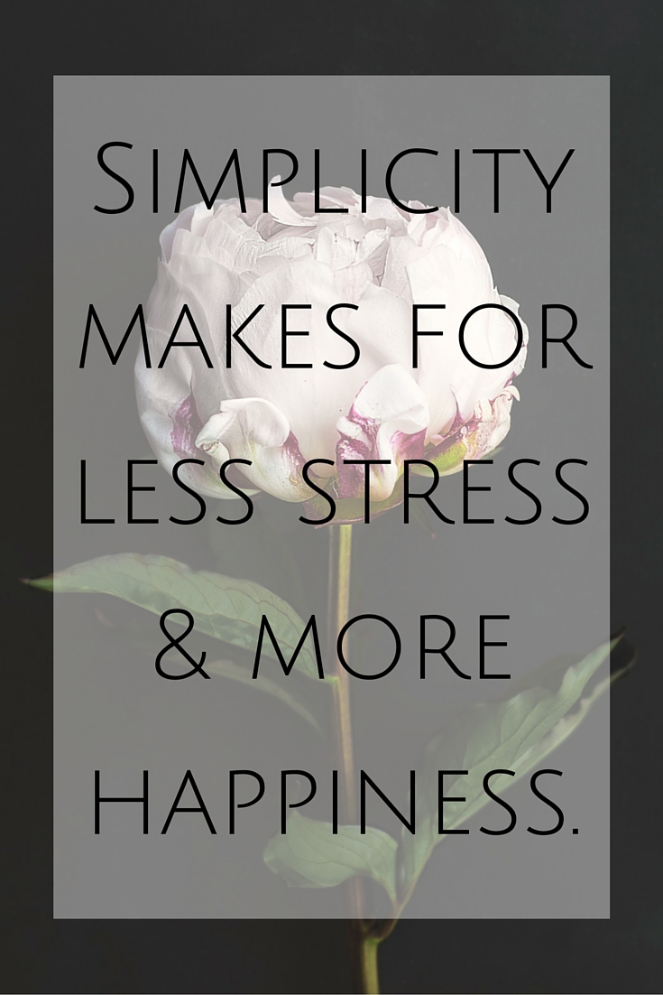 2016 Word of the Year - Simplicity