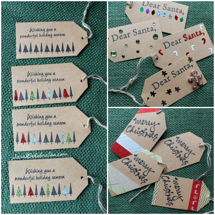 DIY Christmas Tags-Decorated tags | Sarah Celebrates #30MinuteCrafts