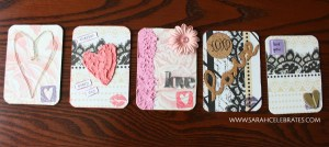 Valentines Artist Trading Cards - Warm Hearts #MixedMedia #atcs