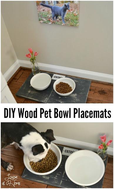 DIY Wood Pet Bowl Placemats