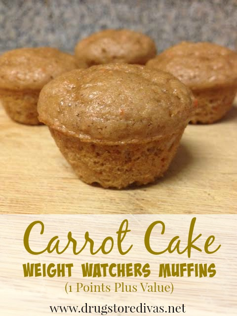 Carrot Cake Muffins, 1 WW point | A #2usestuesday Sarah Special
