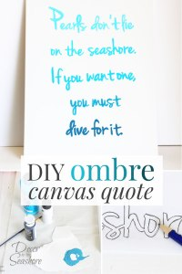 DIY-Ombre-Canvas-Quote-Tutorial | Sarah Special Feature on #2usestuesday