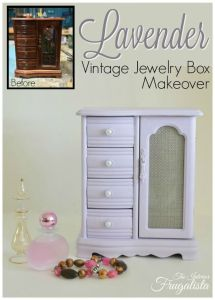 A Lavender Vintage Jewelry Box Makeover | #Pinbellish 42 Fave
