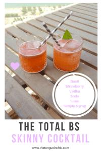 Basil strawberry skinny cocktail