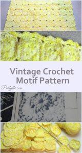 vintage crochet motif pattern| Faves so far at #Pinbellish 42