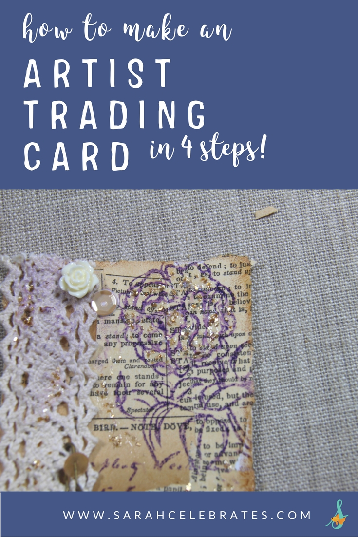 How To Make an Artist Trading Card in 4 steps