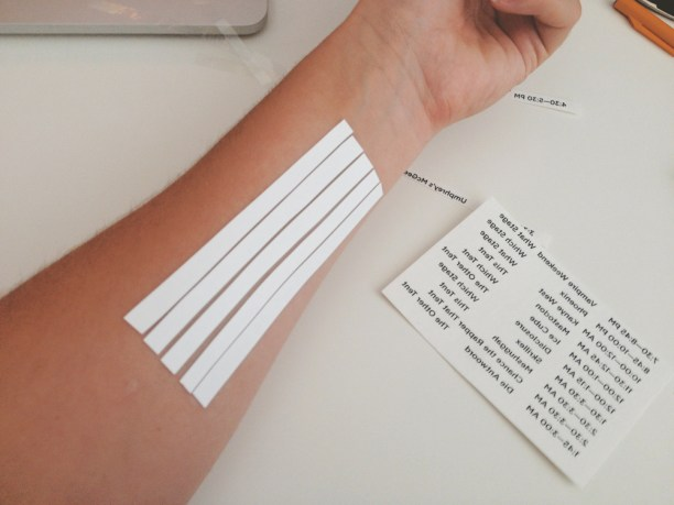 Music Festival Schedule Temporary Tattoos