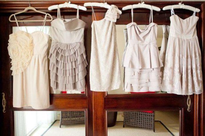 Bridesmaids robe cintres