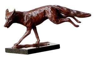 Bronze Running Fox