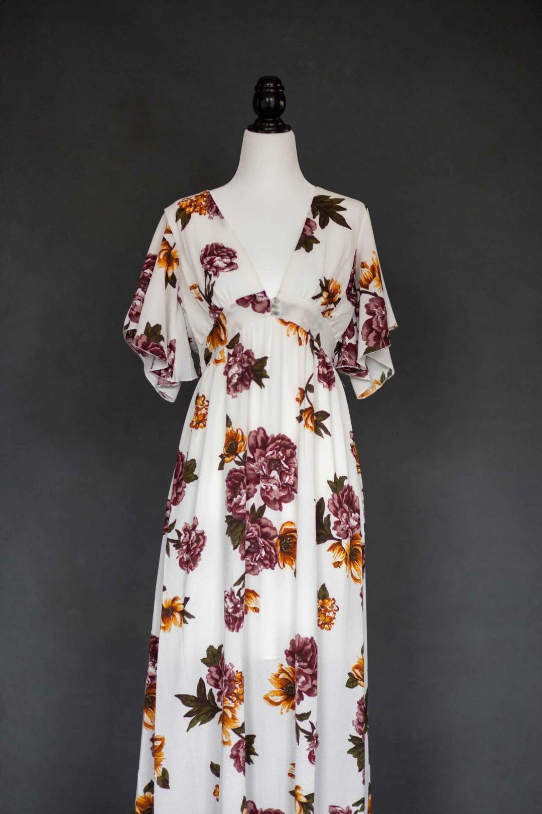 White Floral Bodysuit