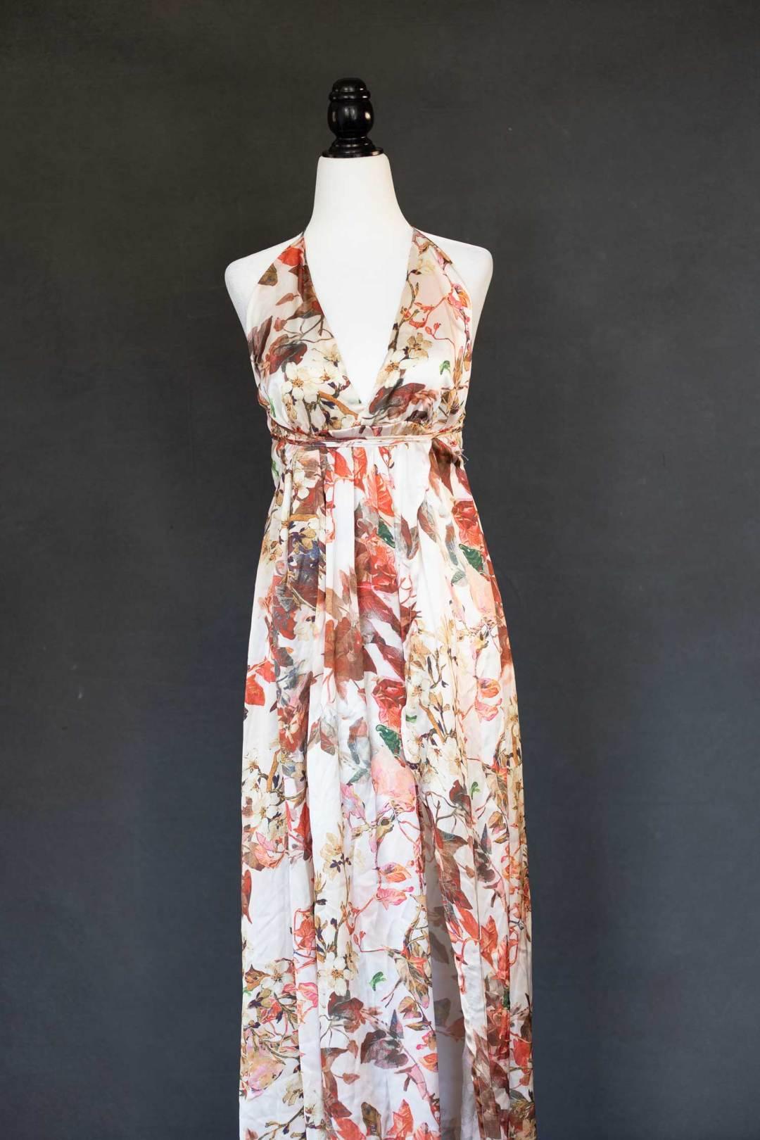 Earth tone wrap dress