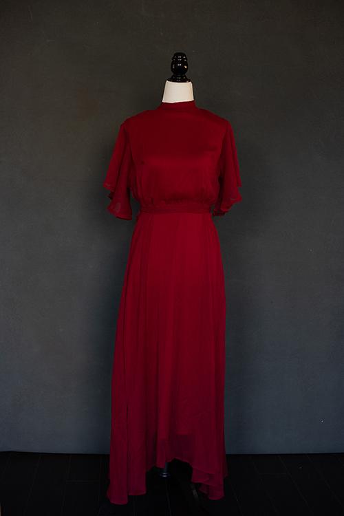 Burgundy tie dress