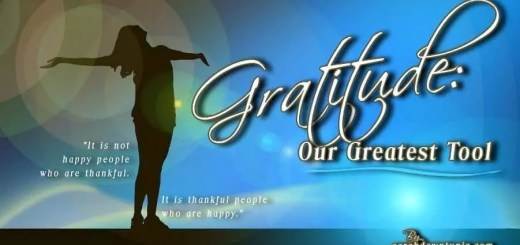 Gratitude our greatest tool. Title image for post.
