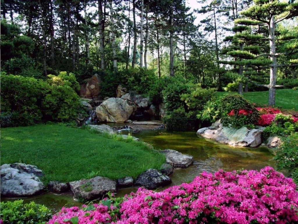 Beautiful Japanese Garden. Intentions are the seeds in your life's garden.