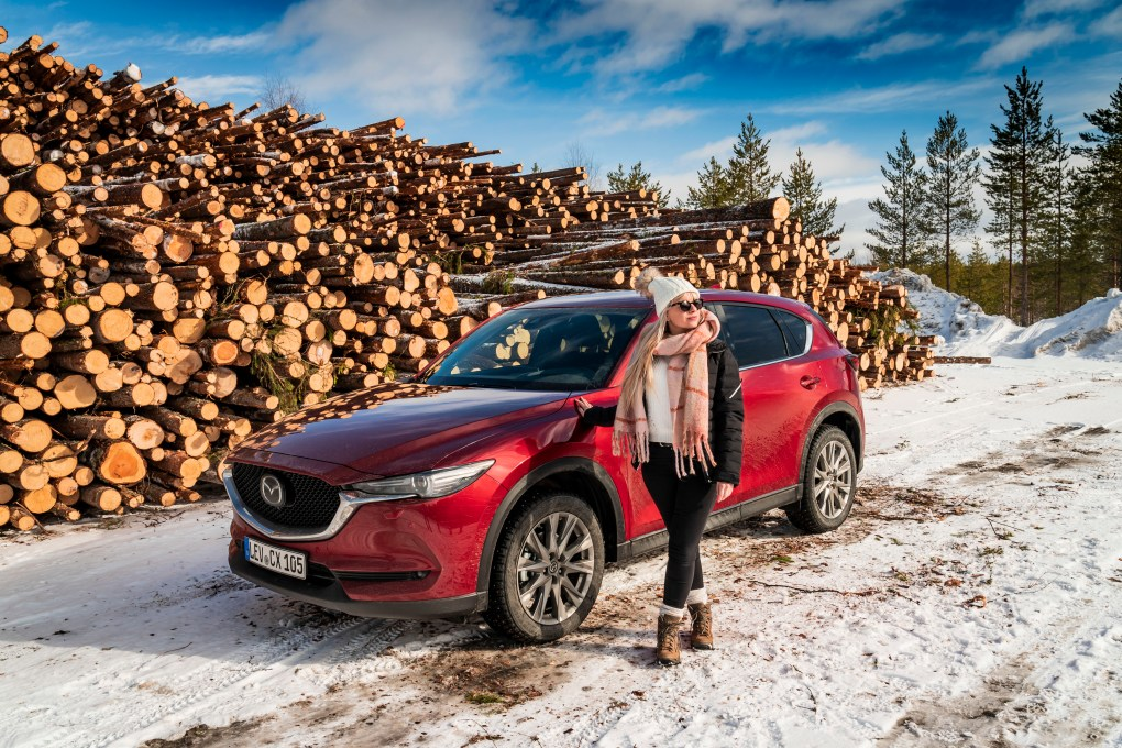 Road tripping through winter wonderland with a Mazda CX-5 | Lapland