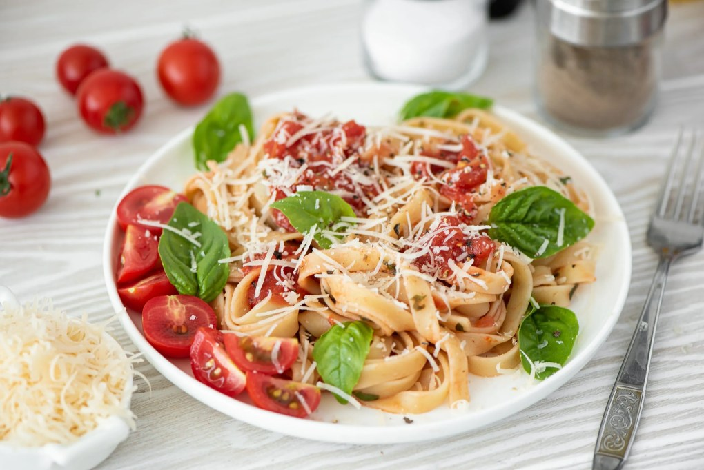 Tagliolini in a shallot sauce