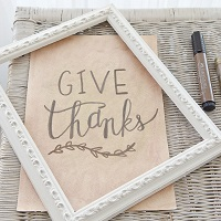 Give Thanks Hand-Lettering Project