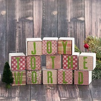 Joy to the World Wood Blocks Project by Sarah Donawerth